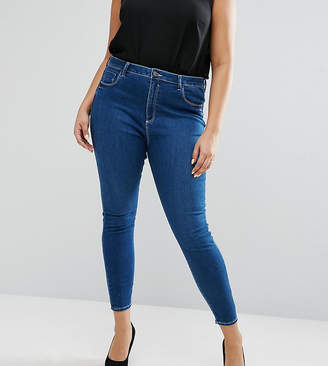 Asos High Waist Ridley Skinny Jean In Hester Wash