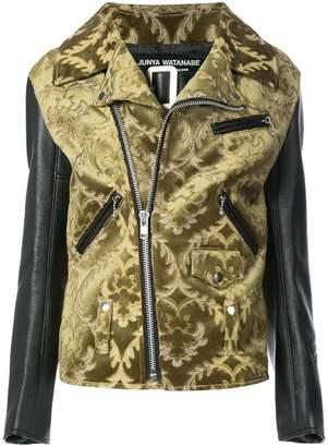 Junya Watanabe jacquard biker jacket