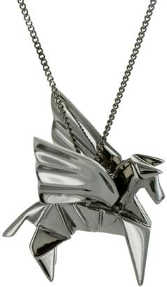 Origami Jewellery Pegazus Necklace Gun Metal