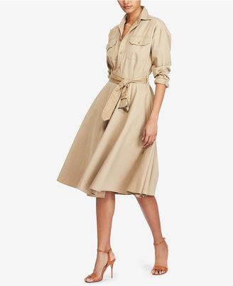 Polo Ralph Lauren Cotton Chino Shirtdress $245 thestylecure.com