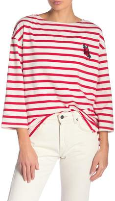 Levi's Nicole Red Striped Tee