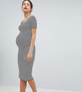 Isabella Oliver Stripe Jersey Midi T-Shirt Dress