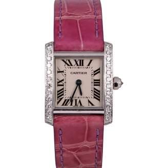 Cartier Tank Française white gold watch