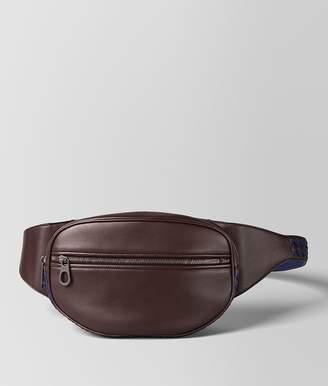 Bottega Veneta Dark Barolo/Atlantic Calf Intrecciato Checker Belt Bag