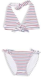 Shoshanna Little Girl's& Girl's Two-Piece Striped Bikini Set