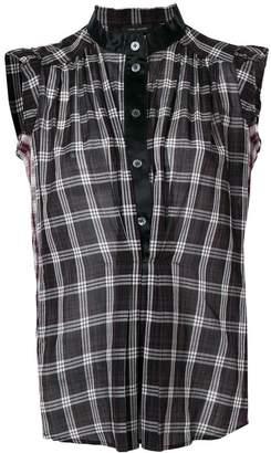 Marc Jacobs contrast trim check vest