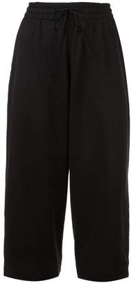 Y-3 cropped drawstring trousers