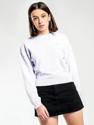 Nike New Nsw Rebel Crew Jumper In Purple Womens Sweaters & Jumpers