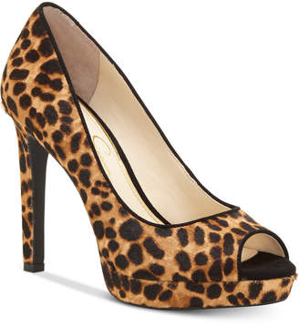 Jessica Simpson Dalyn Peep-Toe Platform Pumps Women's Shoes