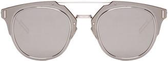 Dior Homme Silver Composit 1.0 Sunglasses $590 thestylecure.com