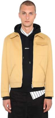 Ami Alexandre Mattiussi Zip-Up Cotton Blend Casual Coat