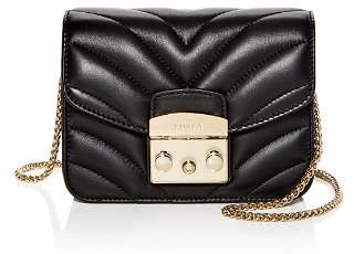 Furla Metropolis Mini Quilted Leather Crossbody