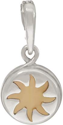 Mother of Pearl Carolyn Pollack Sterling Silver Sun Charm