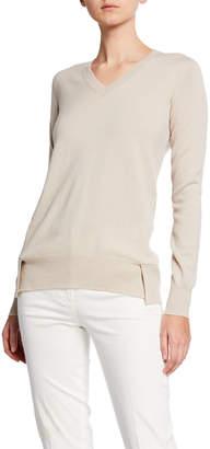 Agnona Long-Sleeve V-Neck Eternal Cashmere