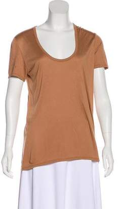 The Row Scoop Neck Short Sleeve T-Shirt