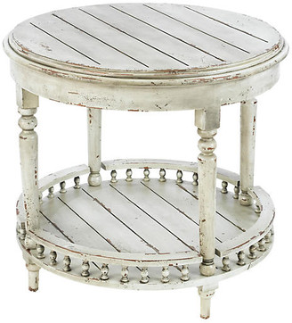 One Kings Lane Emma Side Table - Distressed White