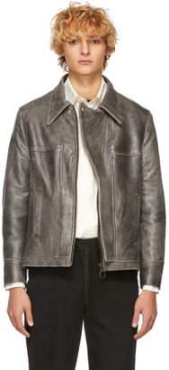 St-Henri SSENSE Exclusive Black Leather Basement Jacket