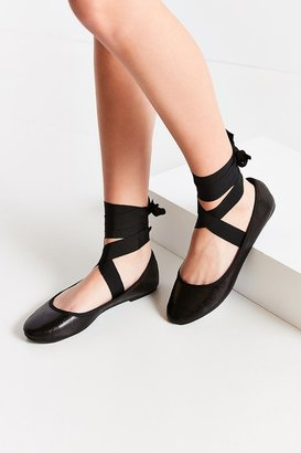 Urban Outfitters Grosgrain Lace-Up Ballet Flat $39 thestylecure.com