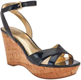 Marc Fisher Cross Strap Wedge Sandals w/ Ankle Strap - Welly