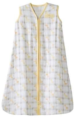 Halo Sleepsack Baby Wearable Blanket 100% Cotton Muslin-Medium 6-12 Months-Yellow Giraffe