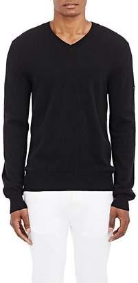 Comme des Garcons Men's Heart Patch V-Neck Sweater