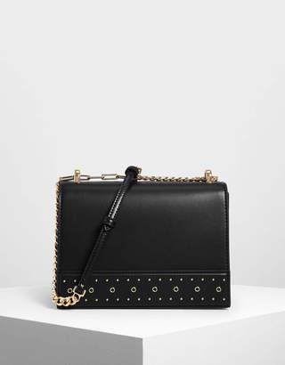 Charles & Keith Stud Detail Crossbody Bag