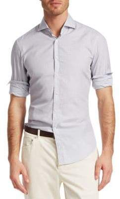 Brunello Cucinelli Check Button-Down Shirt
