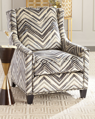 Massoud Adley Chevron Stripe Accent Chair