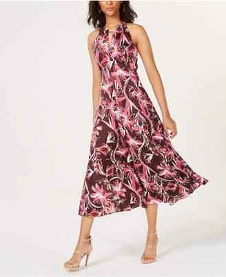 Bar III Floral-Print Midi Dress, Created for Macy's