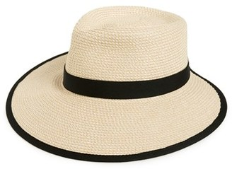 Women's Eric Javits 'Sun Crest' Packable Hybrid Fedora Visor - Ivory $198 thestylecure.com