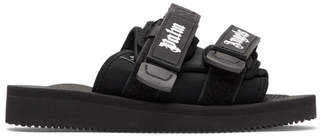 Palm Angels Black Suicoke Edition Nylon Slides