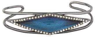 Alexis Bittar Lucite & Crystal Framed Cuff