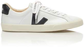 Veja Esplar Laceup Sneakers in White and Black Leather