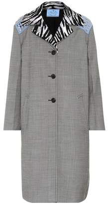 Prada Studded silk and wool coat