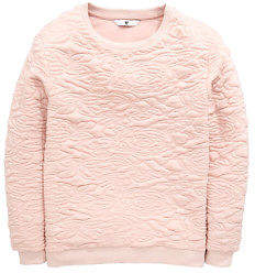Very Rose Quilted Oversized Sweat Top in Pink Size 11-12 Years