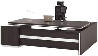 Black Oak Meli Executive Desk