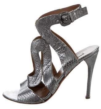 Alaia Metallic High-Heel Sandals