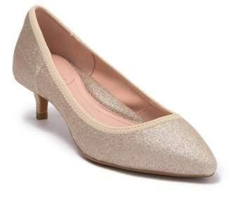 Taryn Rose Nick Stretch Glitter Kitten Heel Pump