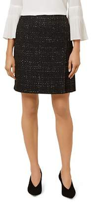 Hobbs London Gabriella Metallic Tweed Skirt
