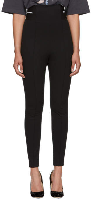 Black Stretch Suiting Leggings