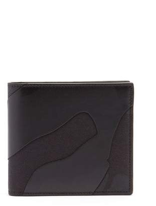 Valentino Camouflage Leather And Canvas Wallet - Mens - Black