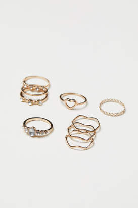 H&M 9-pack Rings - Gold