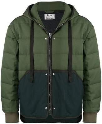 Acne Studios quilted zip front jacket