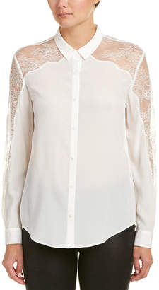 The Kooples Lace Yoke Shirt