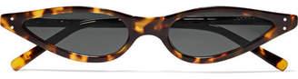Cat Eye George Keburia - Cat-eye Tortoiseshell Acetate Sunglasses