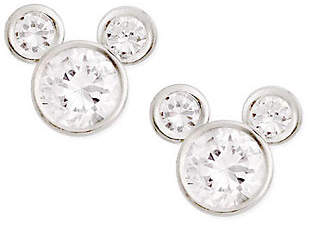 Disney Sterling Silver Diamonique Mickey Stud Earrings $26.38 thestylecure.com