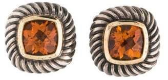 David Yurman Citrine Albion Stud Earrings