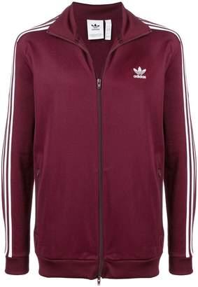 adidas contrast logo zipped jacket