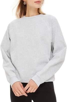 Topshop Flatlock Cotton Sweatshirt