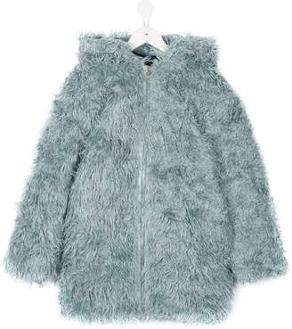 Marni faux fur hooded coat